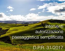 interventi che richiedono autorizzazione paesaggistica