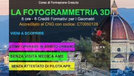 firenze corso fotogrammetria gratuito