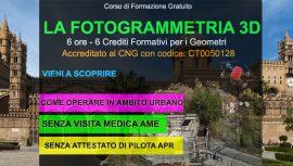 Palermo corso fotogrammetria gratuito