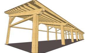 piccole strutture in legno
